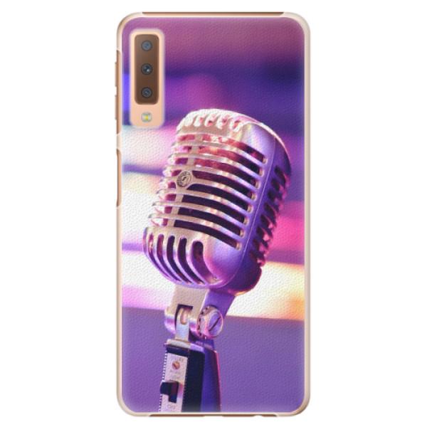 Plastové pouzdro iSaprio - Vintage Microphone - Samsung Galaxy A7 (2018)