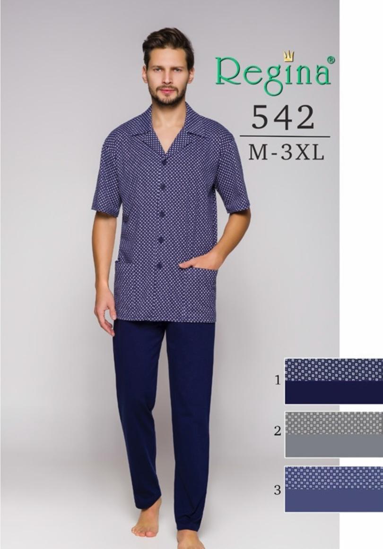 Pánské pyžamo 542BIG - Modrá/2XL