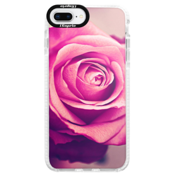 Silikonové pouzdro Bumper iSaprio - Pink Rose - iPhone 8 Plus
