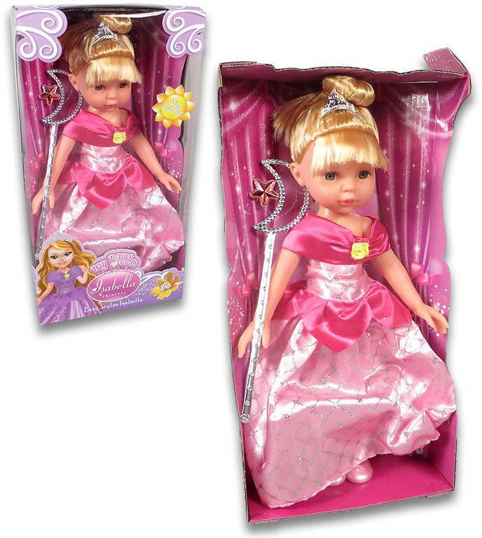 Panenka Isabella s hůlkou luxusní zdobené šaty 2 barvy