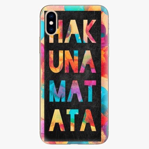 Silikonové pouzdro iSaprio - Hakuna Matata 01 - iPhone XS
