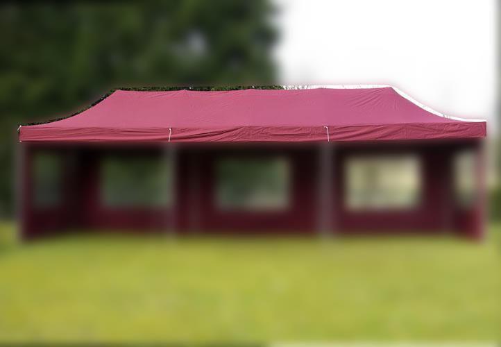 Náhradní střecha na zahradní skládací stan 3 x 9 m vínová
