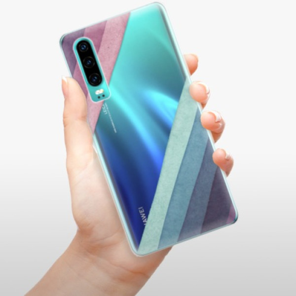 Odolné silikonové pouzdro iSaprio - Glitter Stripes 01 - Huawei P30