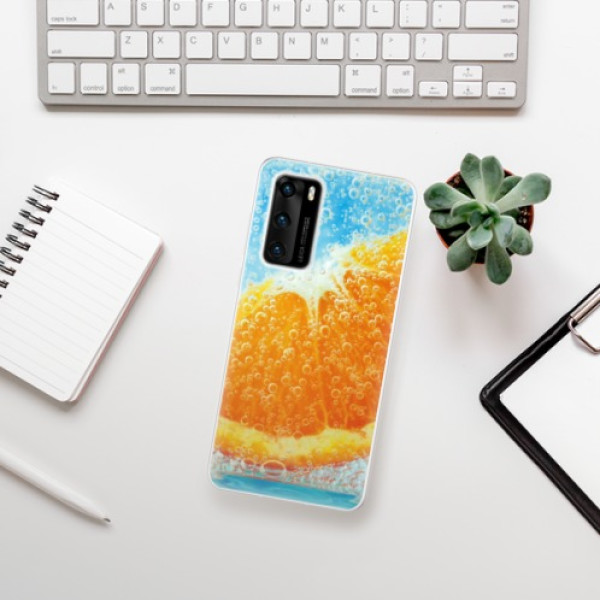 Odolné silikonové pouzdro iSaprio - Orange Water - Huawei P40