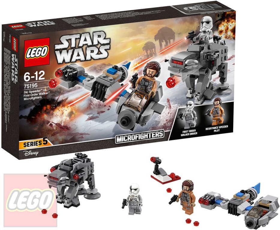 LEGO STAR WARS Snežný spídr a kráčející kolos Prvního řádu STAVEBNICE 75195
