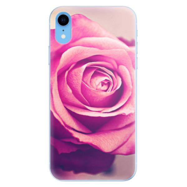Odolné silikonové pouzdro iSaprio - Pink Rose - iPhone XR