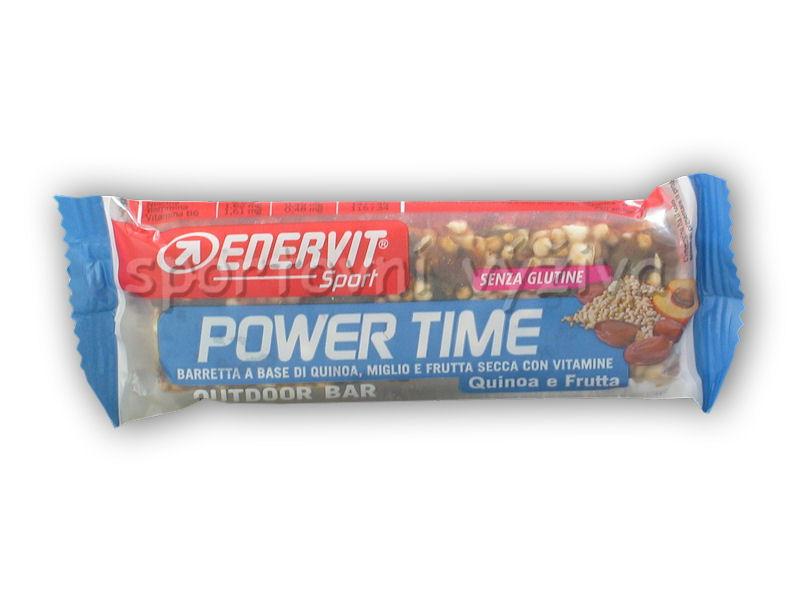 Power Time outdoor bar 30g gluten free-quinoa-ovoce