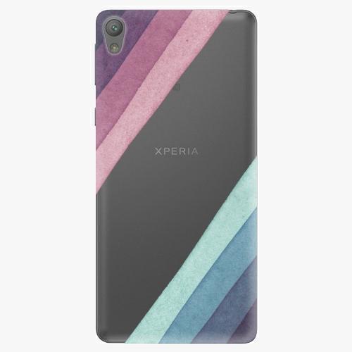 Plastový kryt iSaprio - Glitter Stripes 01 - Sony Xperia E5