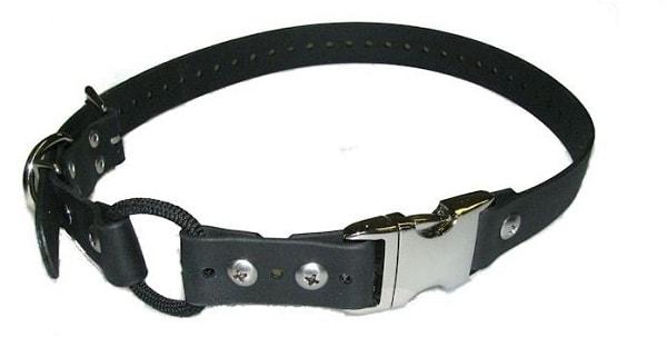 E-collar Bungee obojek z Biothanu s rychloupínáním - Černá