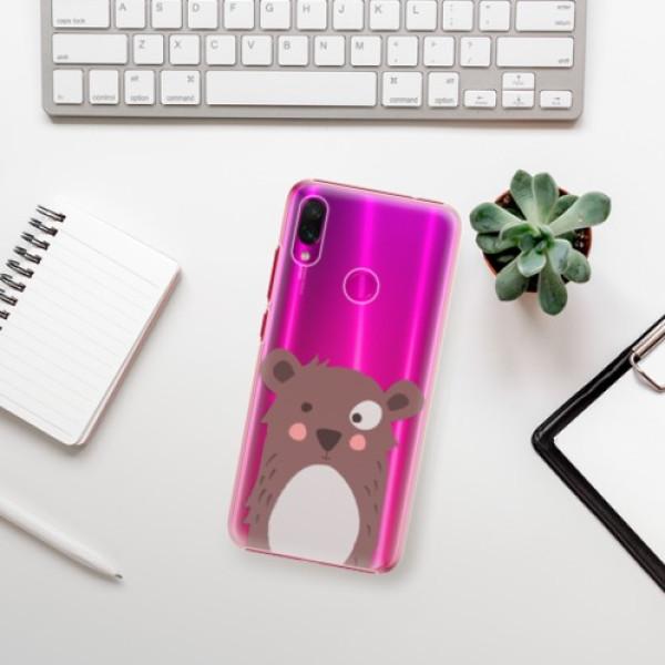 Plastové pouzdro iSaprio - Brown Bear - Xiaomi Redmi Note 7
