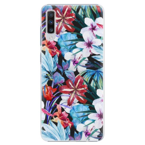 Plastové pouzdro iSaprio - Tropical Flowers 05 - Samsung Galaxy A70