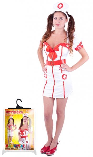 Karnevalový kostým slečna zdravotnice pro dospělé, vel. M
