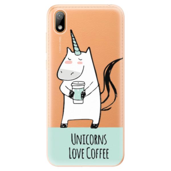 Odolné silikonové pouzdro iSaprio - Unicorns Love Coffee - Huawei Y5 2019