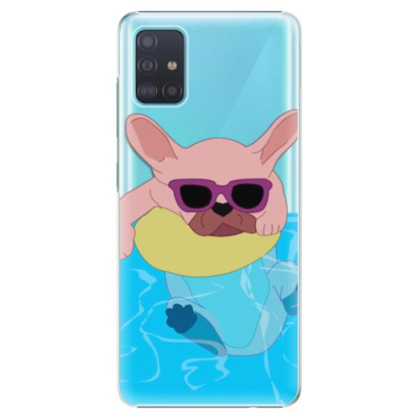 Plastové pouzdro iSaprio - Swimming Dog - Samsung Galaxy A51