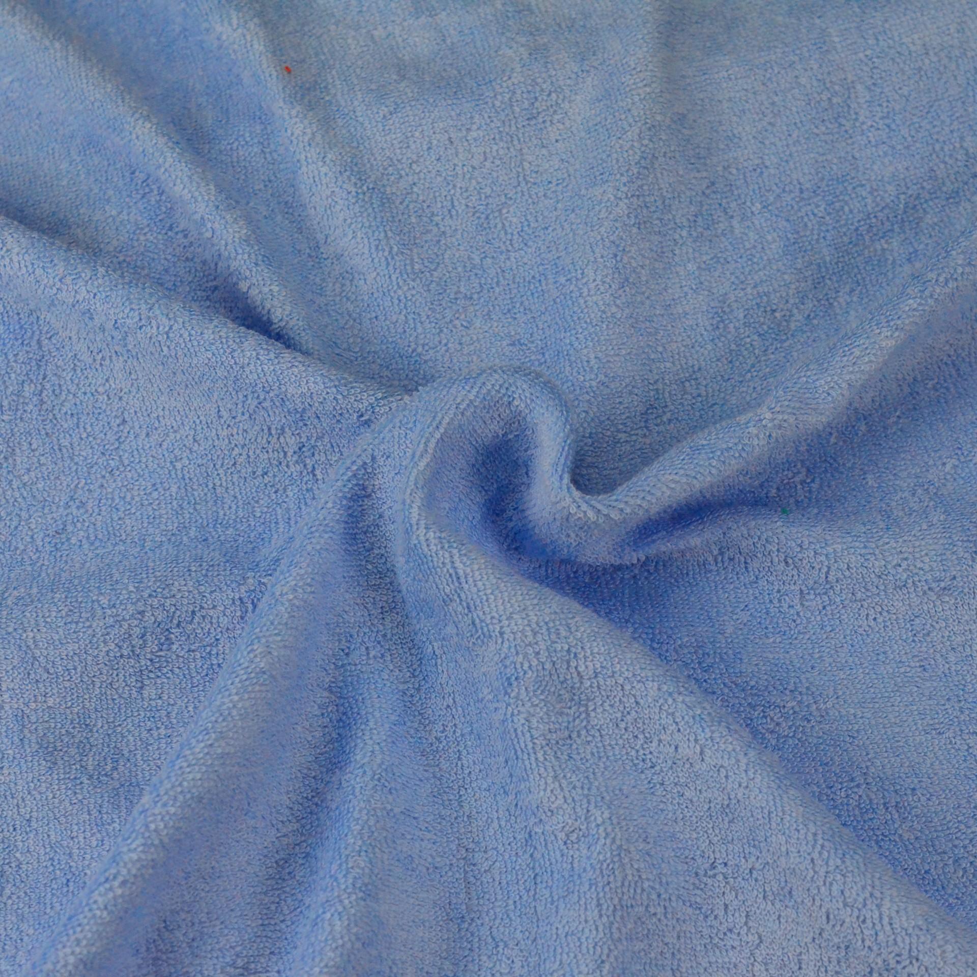 Froté prostěradlo světle modré, Výběr rozměru - 90x200cm