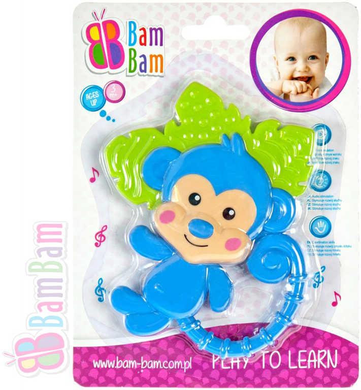 ET BAM BAM Chrastítko plastové kousátko OPIČKA pro miminko