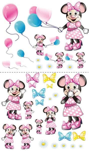 Nálepky, dekorace na stěnu 70x100 cm - Myška s balónkem