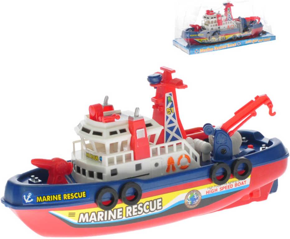 Člun záchranný plastový 25 cm pátrací loď na baterie