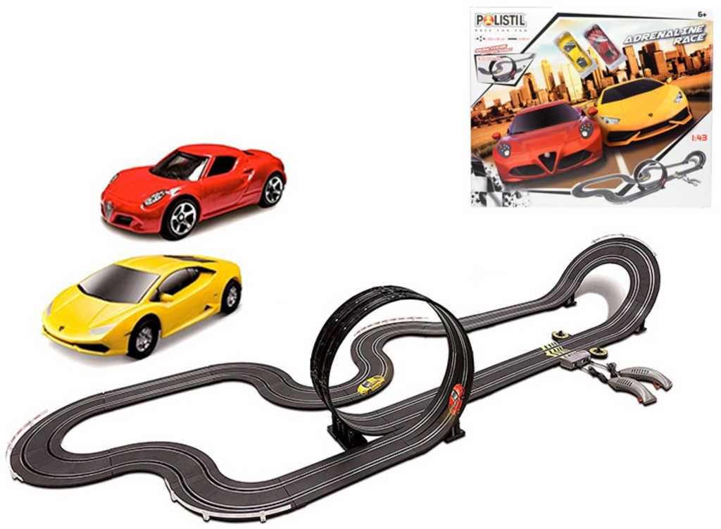 Autodráha Adrenalin Race 1:43 looping 6,5m set se 2 autíčky na trafo 230V