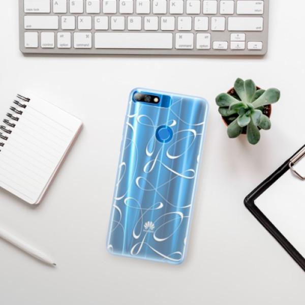 Silikonové pouzdro iSaprio - Fancy - white - Huawei Y7 Prime 2018