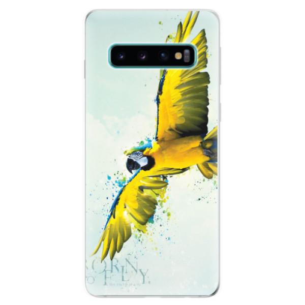 Odolné silikonové pouzdro iSaprio - Born to Fly - Samsung Galaxy S10