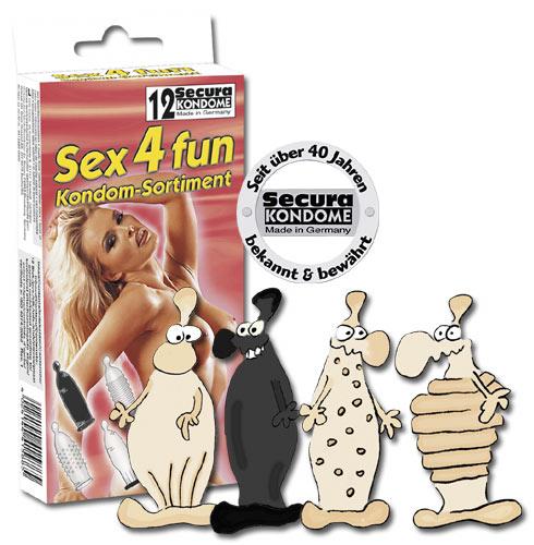Kondomy různých tvarů Sex4fun