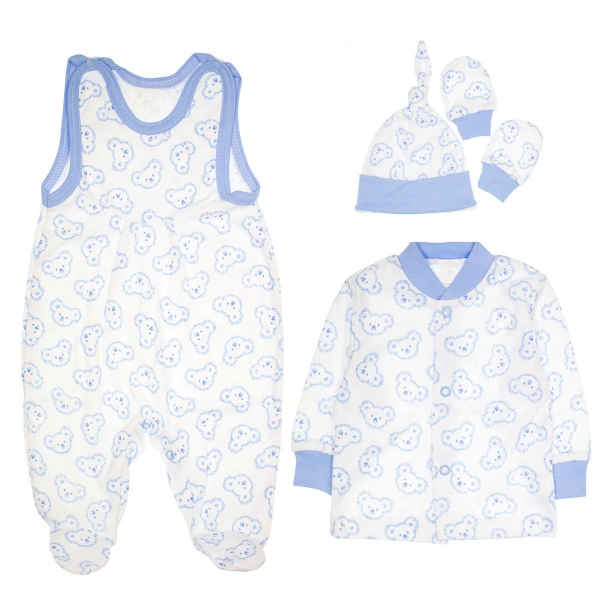 Soupravička do porodnice 4D - Koaly - modrá, vel. 62 - 62 (2-3m)