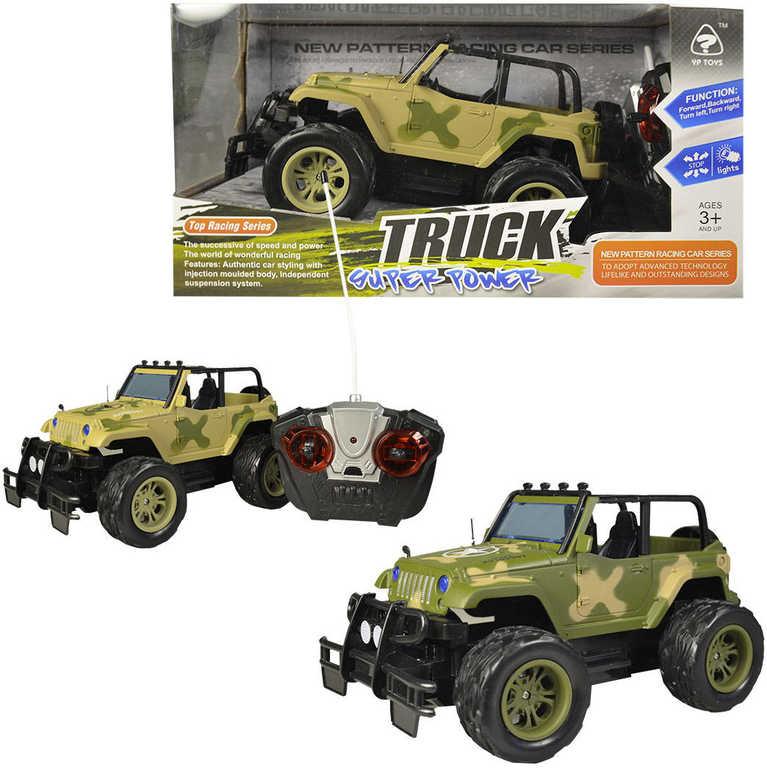 RC Auto Jeep vojenský velká kola 27MHz na vysílačku na baterie - 2 barvy