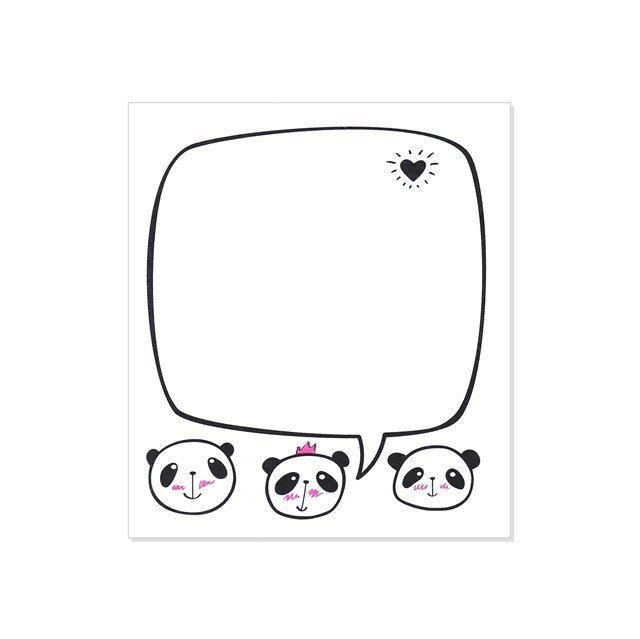 Samolepící bloček - Panda