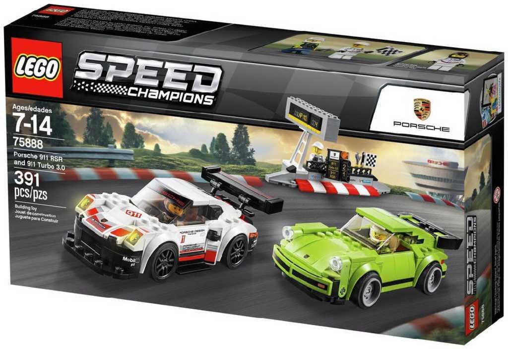 LEGO SPEED CHAMPIONS Porsche 911 RSR a 911 Turbo 3.0 75888 STAVEBNICE