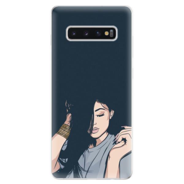 Odolné silikonové pouzdro iSaprio - Swag Girl - Samsung Galaxy S10+