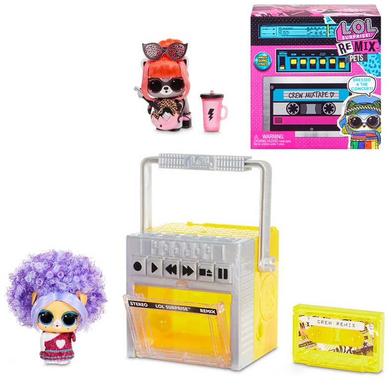 L.O.L. Surprise ReMix Pets set kazeťák se zvířátkem na baterie Zvuk