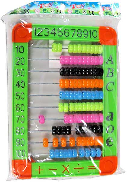 Počítadlo plastové vyukové kuličkové 100 kuliček