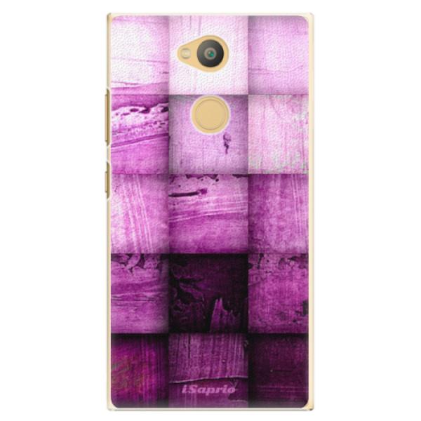 Plastové pouzdro iSaprio - Purple Squares - Sony Xperia L2