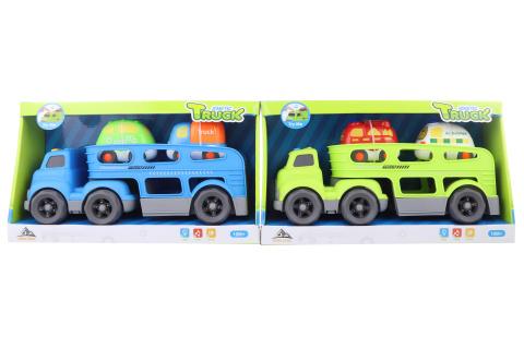 Přepravník s auty na baterie