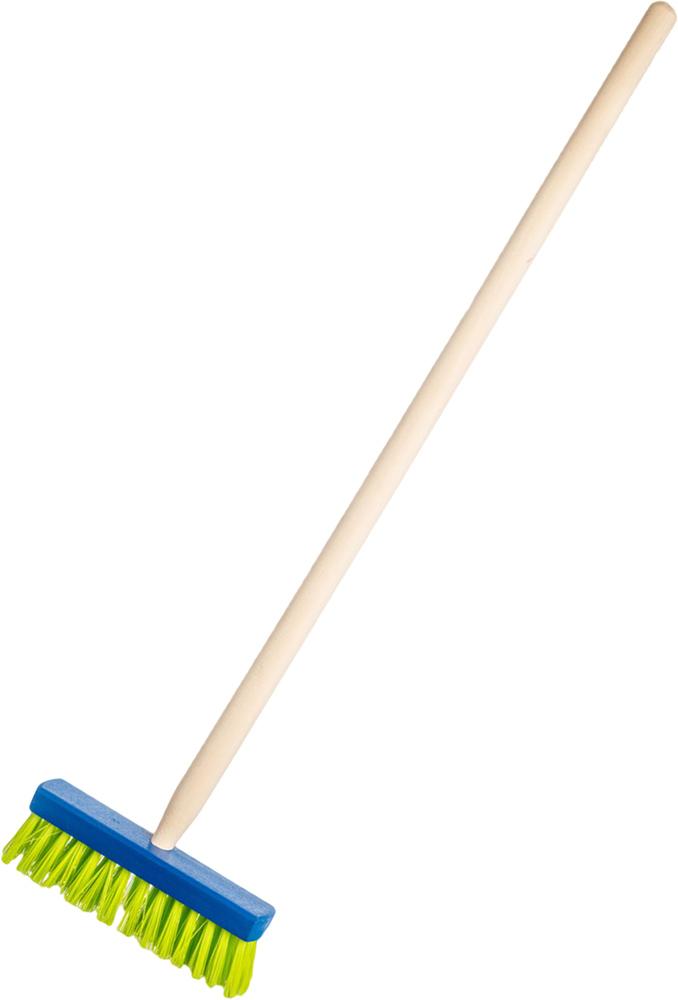 ŘEVO Koště dětské s násadou modré 80cm smeták *DŘEVĚNÉ HRAČKY*