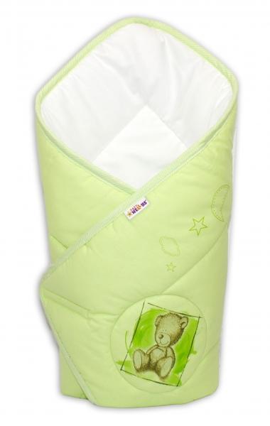 Novorozenecká zavinovačka, 75x75cm, bavlněná Sweet Dreams by Teddy - zelená