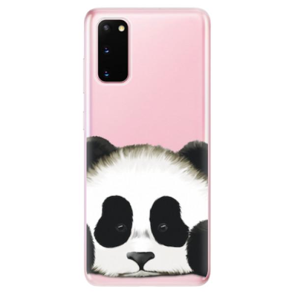 Odolné silikonové pouzdro iSaprio - Sad Panda - Samsung Galaxy S20