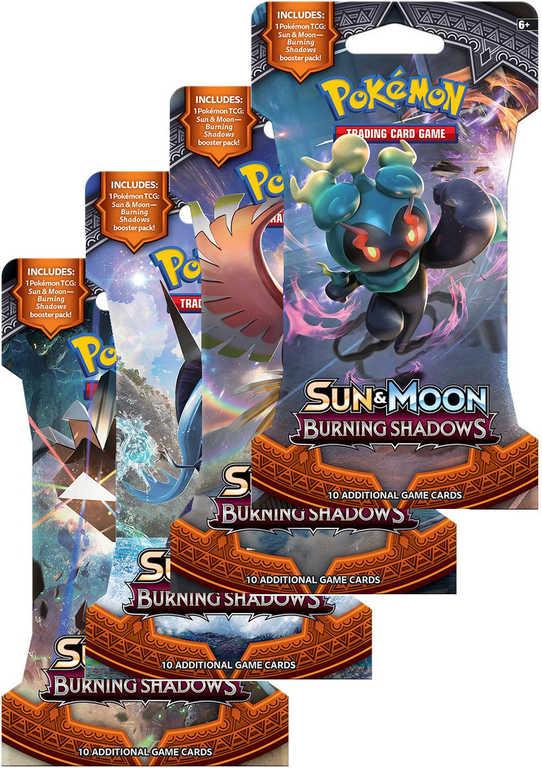 ADC HRA Karty doplňkové Pokémon Burning Shadows Booster set 10 karet na kartě