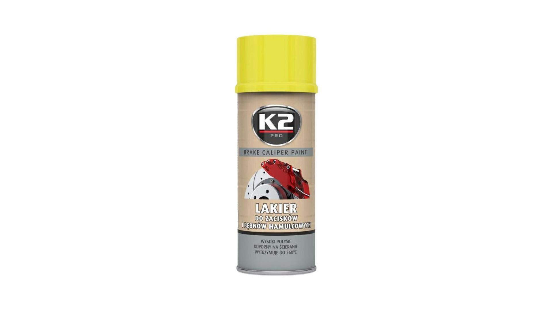 K2 BRAKE CALIPER PAINT 400ml ŽLUTÁ - barva na brzdové třmeny a bubny