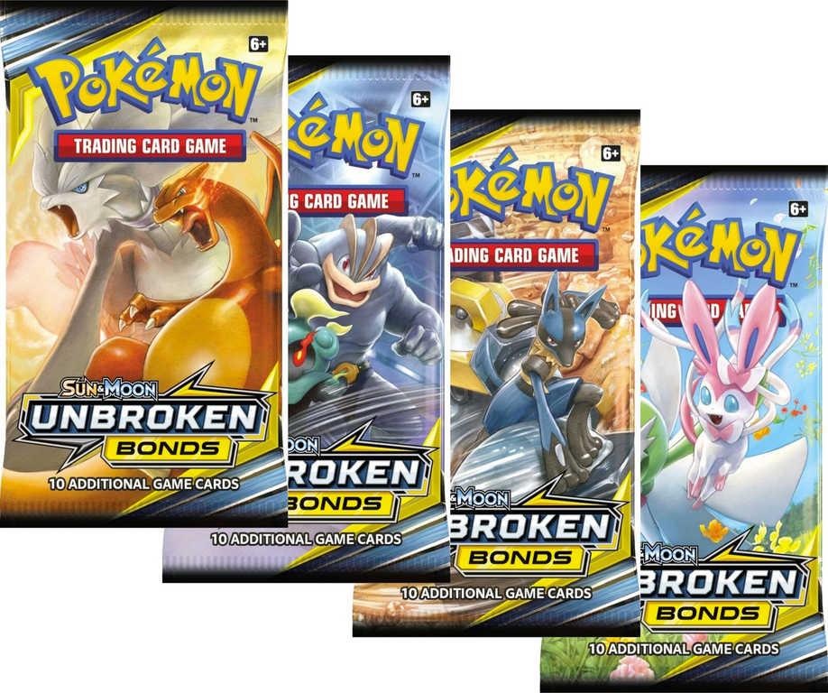 ADC HRA Karty doplňkové Pokémon SM10 Unbroken Bonds Booster 10 karet