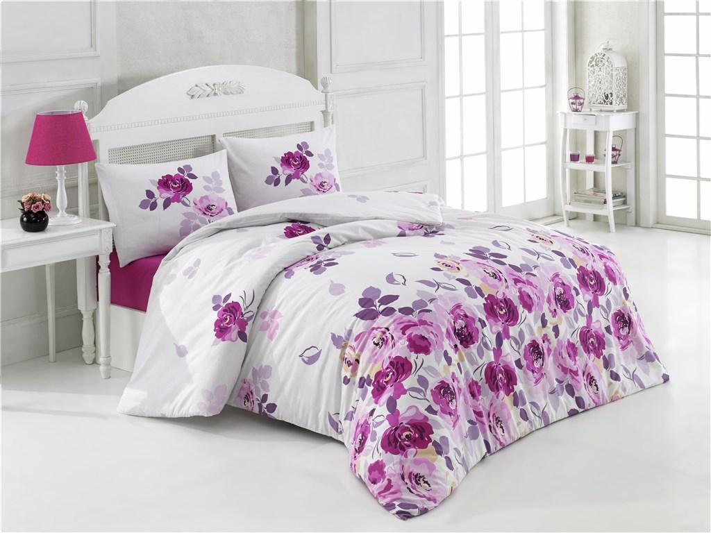 Bavlněný povlak na polštář Roza lila, Výběr rozměru: 40x40