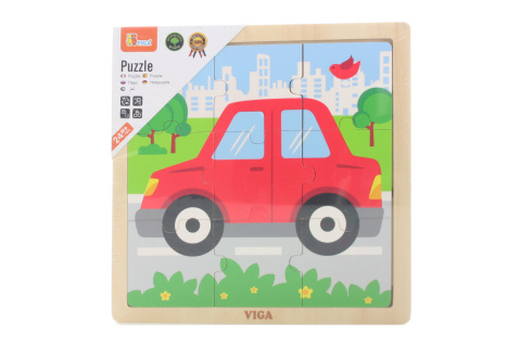 Dřevěné puzzle - autíčko