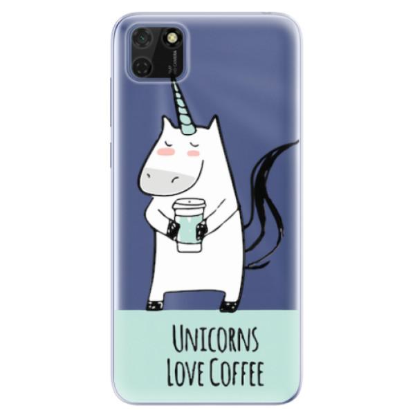 Odolné silikonové pouzdro iSaprio - Unicorns Love Coffee - Huawei Y5p