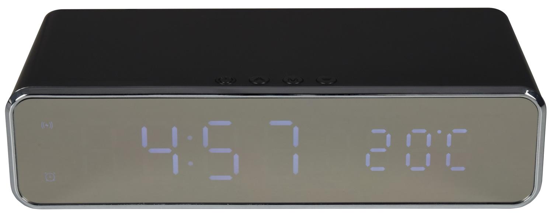 AV:Link Recharge Digitální budík s bezdrátovou nabíječkou, černý