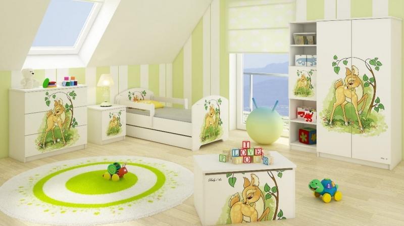 BabyBoo Dětská postel LUX s motivem Bambi, 140 x 70 cm