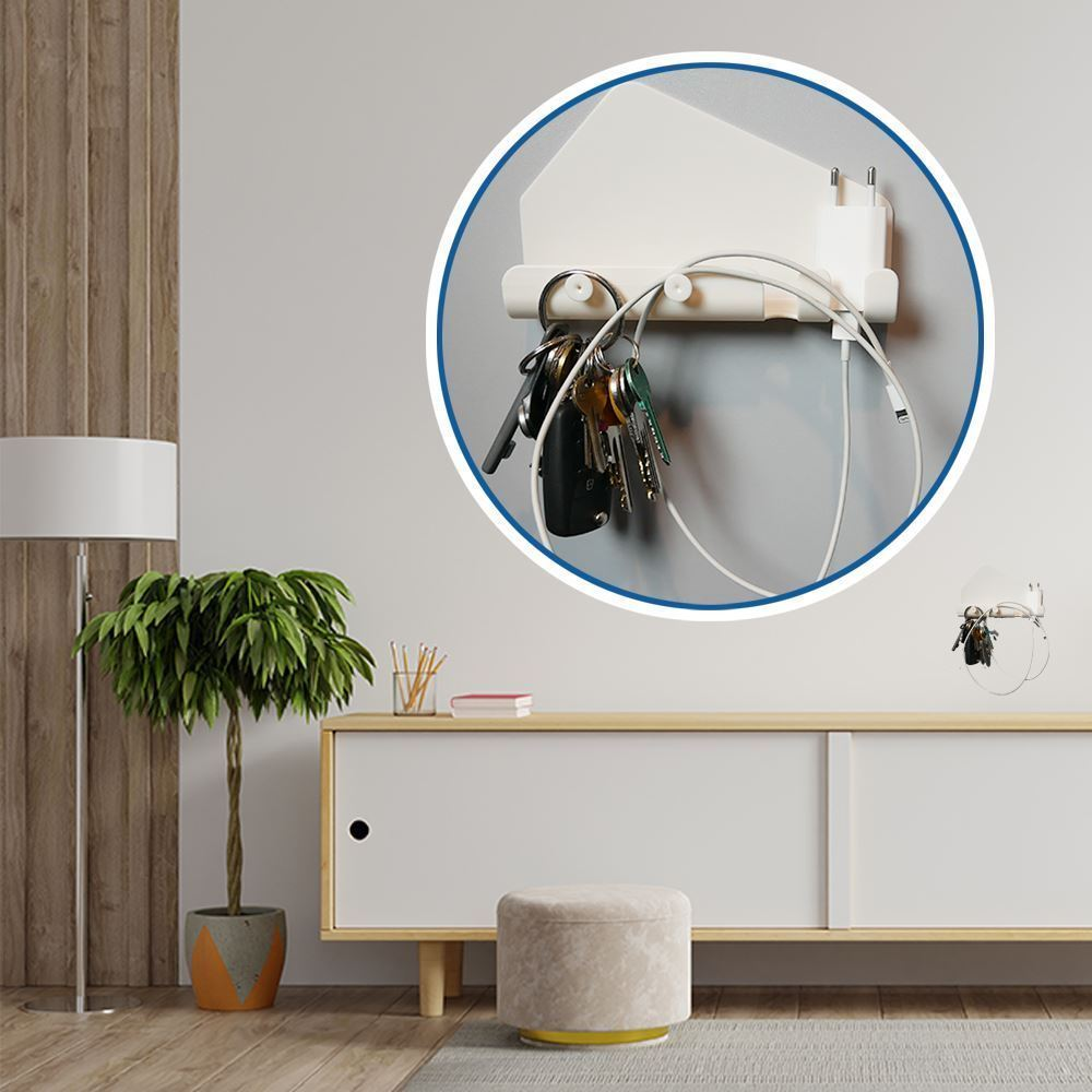Nalepovací držák s háčky - velký