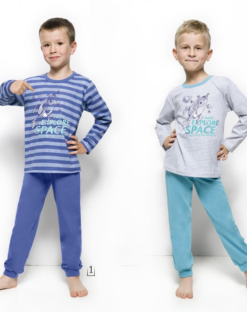Chlapecké pyžamo Taro 1170 JOACHIM 92-116 - Šedé pásky/92