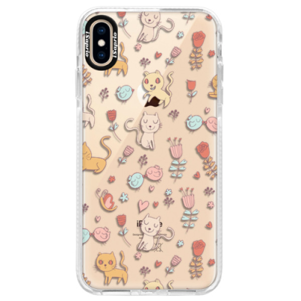 Silikonové pouzdro Bumper iSaprio - Cat pattern 02 - iPhone XS Max