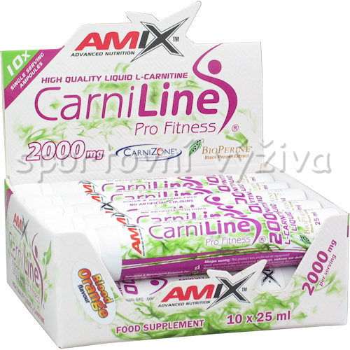 CarniLine 2000mg + BioPerine 10 ampulí - 25ml-sour-cherry